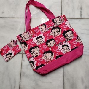 Betty Boop Tote Bag with coin purse